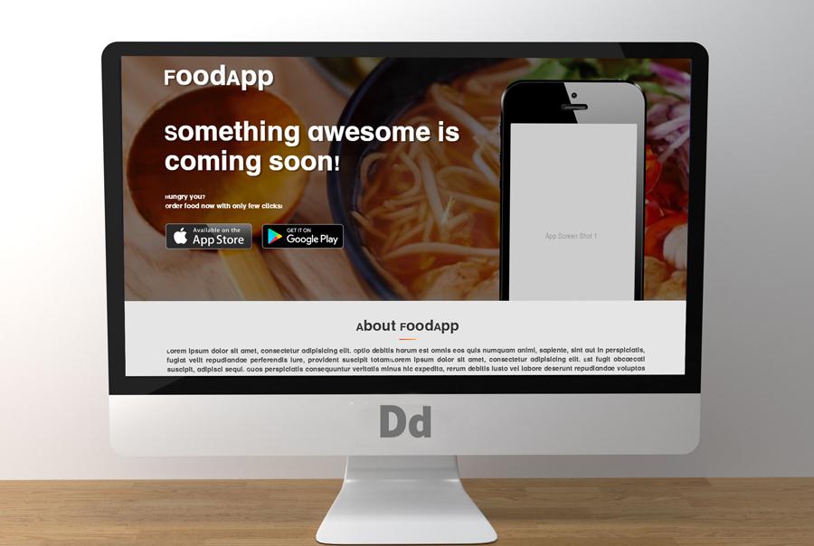 IMG: Foodapp Landing Page
