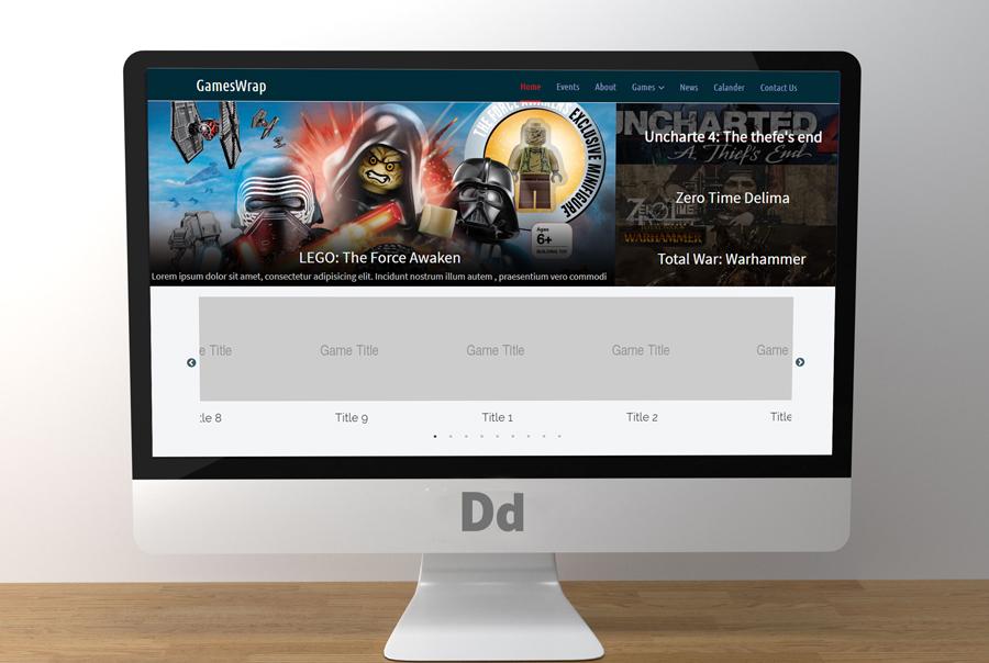 IMG: Gameswrap Gaming News HTML5 Teamplate