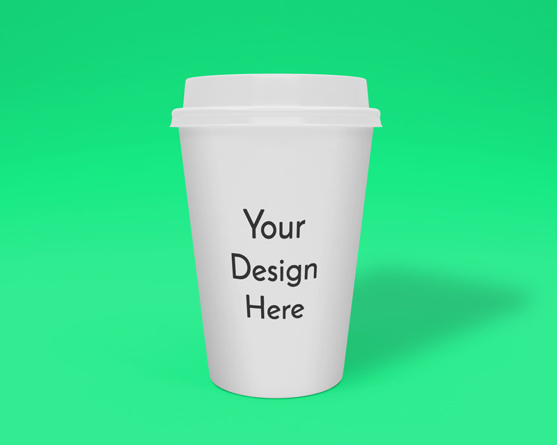 IMG: White Coffee Cup Mockup