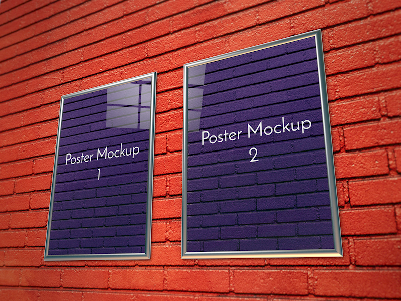 IMG: Two Poster In Wall Mockup