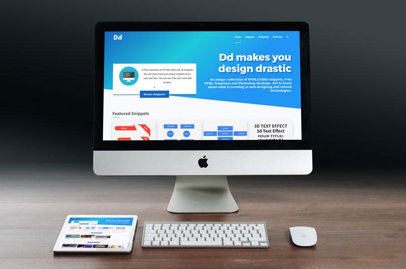 IMG: iMac Website Mockup With iPad