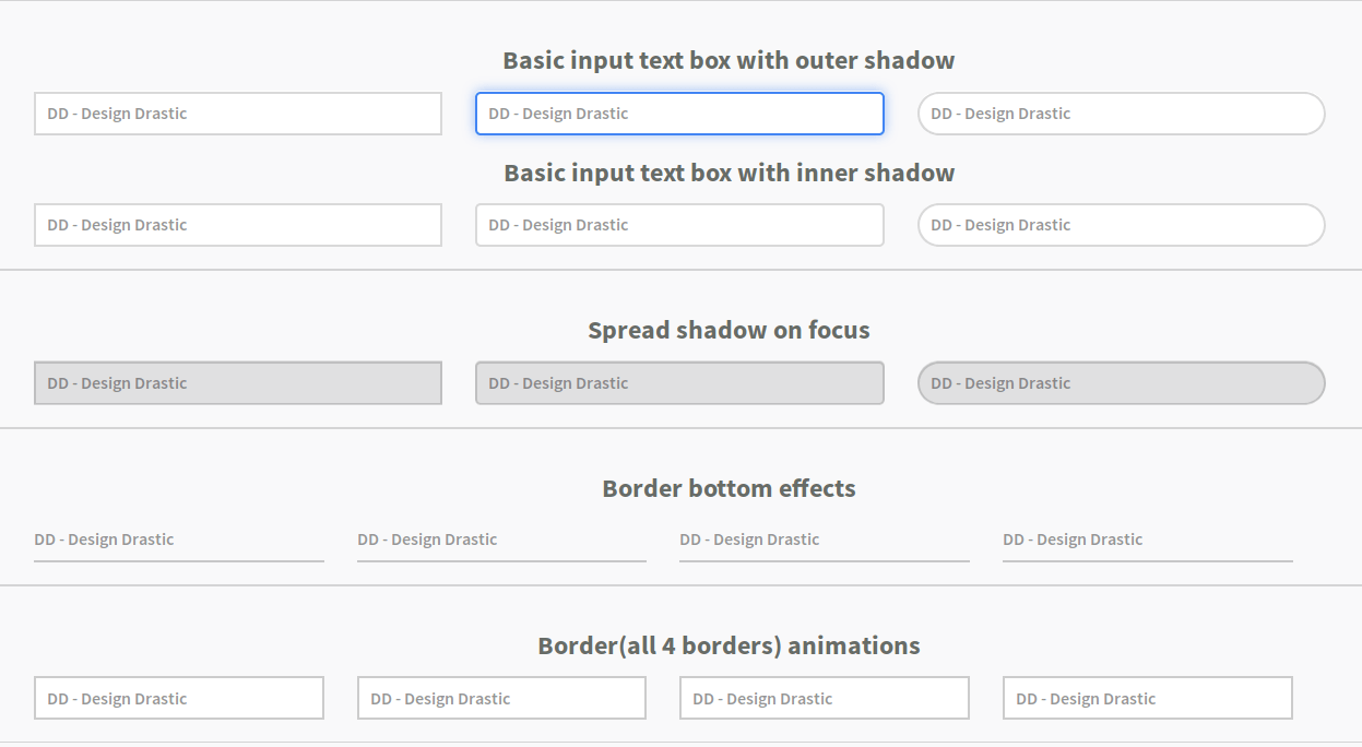 Input Text Box Effects in CSS