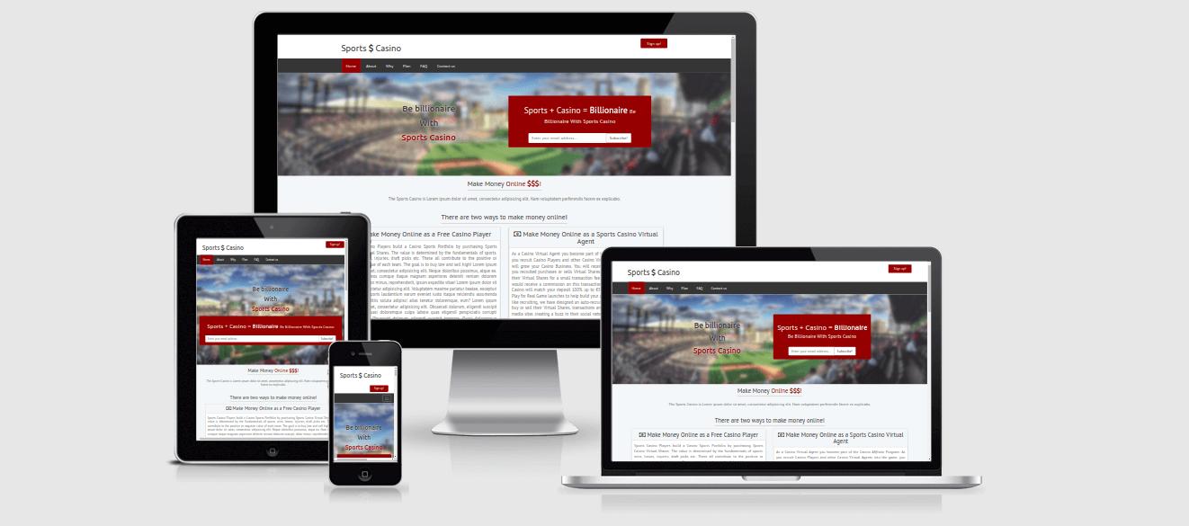 IMG: Sports Casino Landing Page Template