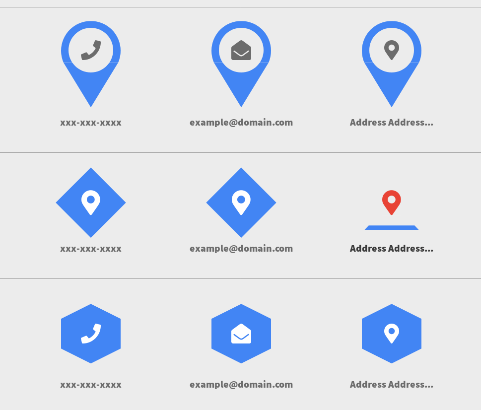 IMG: Get In Touch Contact Information Icon Designs CSS