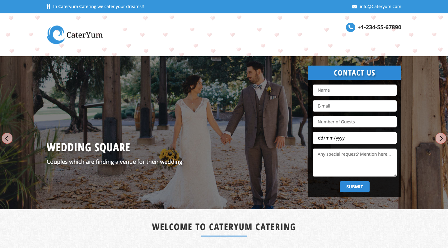 IMG: CaterYum - Responsive Website Template