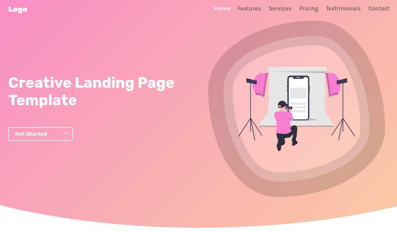 IMG: Creative Landing Page Template