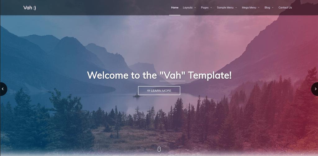 IMG: Vah HTML5 Multipurpose Responsive Template