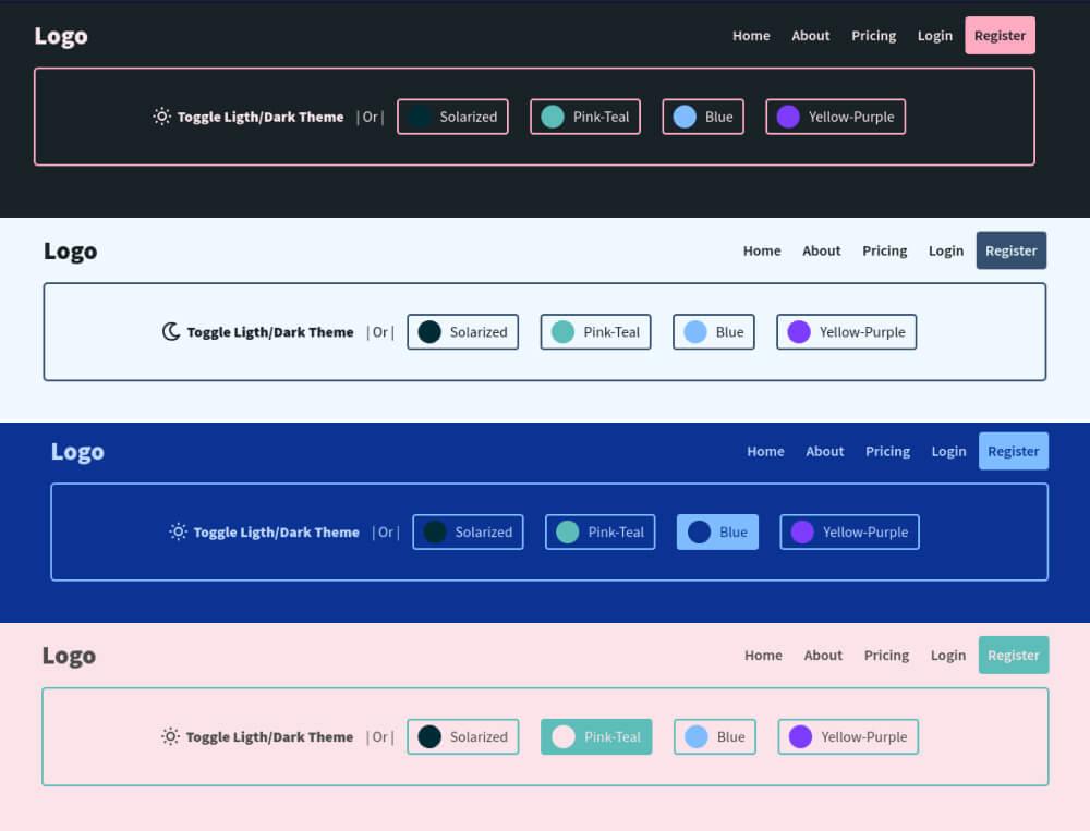 IMG: Create a Dark/Light or Custom Color Theme using CSS and Javascript